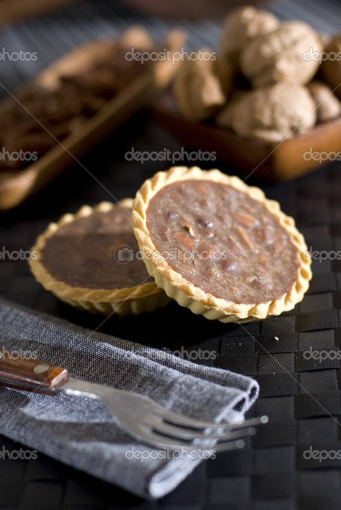 Chocolate mini tart — Stock Photo #5524399