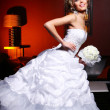 Young and beautiful bride in wedding dress — Stock Photo #5379995