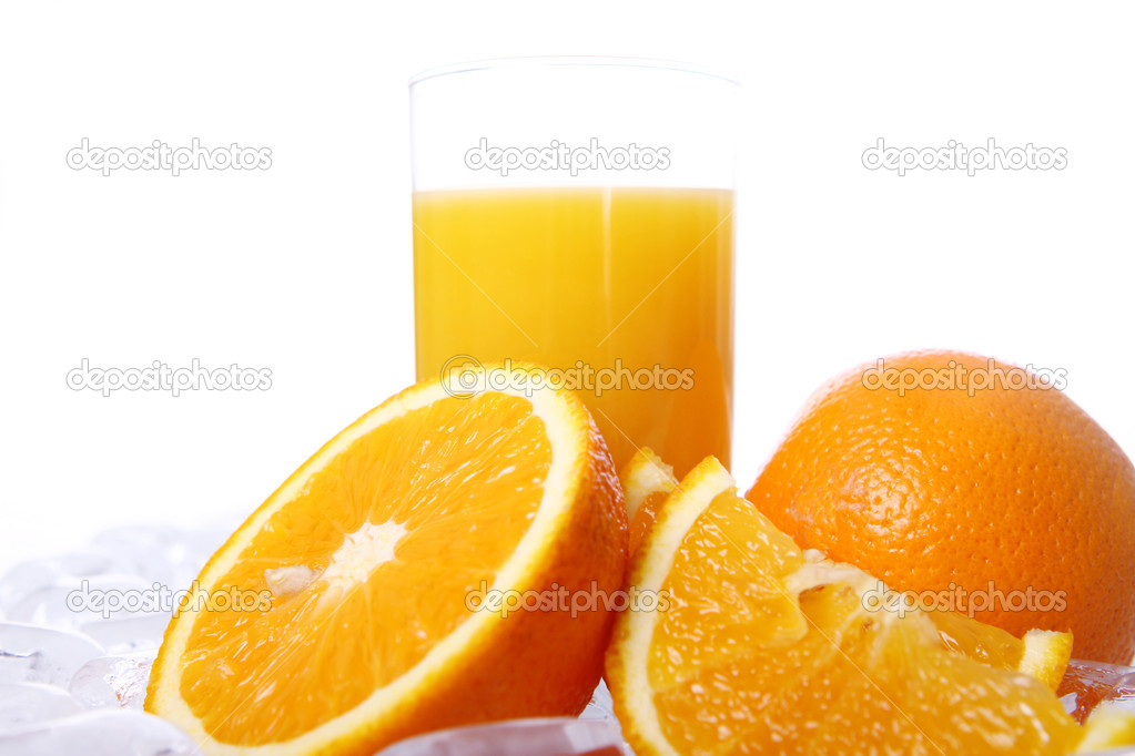 Fresh orange juice in ice  Stock Photo #5647502