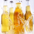 Bootles of beer with water splashes — Stock Photo #5716638