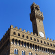 Old clock tower - Palazzo Vecchio - Stock Photo
