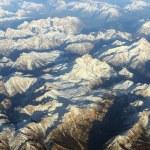 Aerial view on mountains — Stock Photo