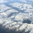 Aerial view on mountains — Stock Photo