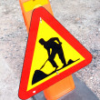 Road works sign — Stock Photo