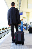 Man with his baggage — Stock Photo