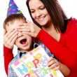Son birthday — Stock Photo