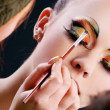 Making Beautiful Make Up - Stock Photo