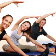 Stock Photo: Group of Doing Fitness Exercises