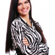 Young girl in striped blouse — Foto Stock