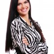 Young girl in striped blouse — Stock Photo