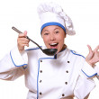 Woman chef cook — Stock Photo