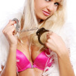 Sexy women with handcuffs — Stock Photo #5841969
