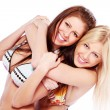 Two beautiful twins sisters — Stock Photo