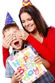 Son birthday — Stock Photo