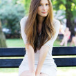 Young and beautiful girl in park — Stock Photo #5896915