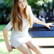 Young and beautiful girl in park — Stock Photo #5896951