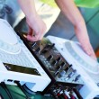 Foto Stock: DJ Workstation