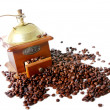 Old coffee grinder isolated on white — Stock Photo