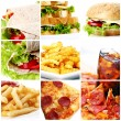 Fast Food Collage — Stock Photo