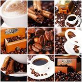 Colagem de café — Fotografia Stock