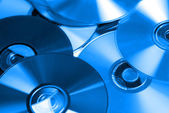 Background of compact discs — Stock Photo