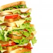 Very big sandwich - Stock Photo