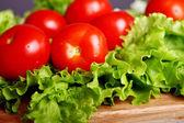 Tomates frescos y mojados — Foto de Stock