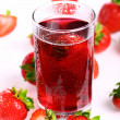 Cold strawberry drink — Stock Photo
