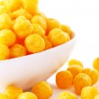 Cheese balls in the bowl — Stock Photo