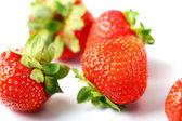 Close Up of fresh strawberry berries — Stock Photo