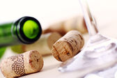 Wine corks on the table — Stock Photo