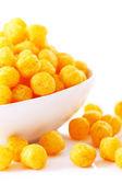 Boules de fromage dans le bol — Photo
