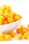 Cheese balls in the bowl — 图库照片