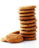 Fresh and tasty oat biscuits — Stock Photo