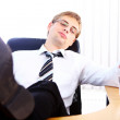 Young businessman having rest — Stock Photo