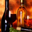 Beautiful wine composition - Stock Photo