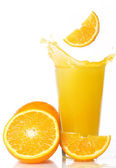 Fresh and cold orange juice — 图库照片