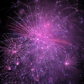 Outbreaks of fireworks — Stock Photo