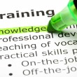 Stockfoto: 'Knowledge' highlighted, under 'Training'