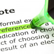 'Preference' highlighted, under 'Vote' — Stock Photo