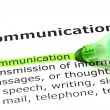 'Communication' highlighted in green — Stock Photo