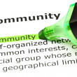 'Community' highlighted in green — Stock Photo #5701996