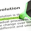 Stock Photo: 'Development' highlighted, under 'Evolution'