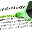 Stock Photo: 'Psychology' highlighted in green