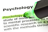 'Psychology' highlighted in green — Stock Photo