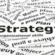 Royalty-Free Stock Photo: \'Strategy\' concept with other related words