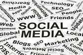 'Social media' concept — Stock Photo