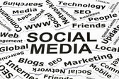 'Social media' concept — ストック写真