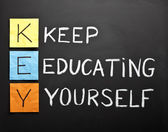 Keep-educating-yourself-acronym — Foto de Stock