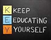 Keep-educating-yourself-acronym — Stock Photo